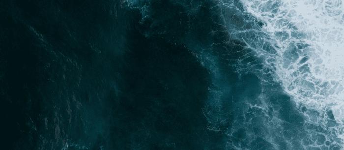 Dark blue rippling water