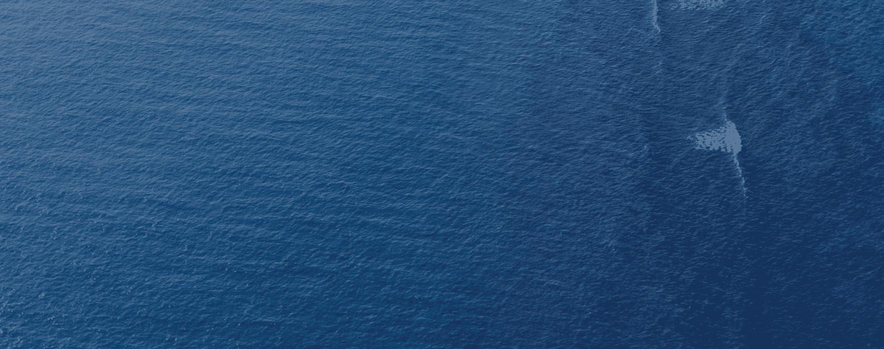 Deep blue open water